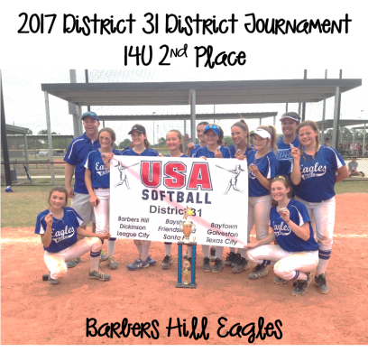 2017 14U Runner-Up - Barbers Hill Eagles