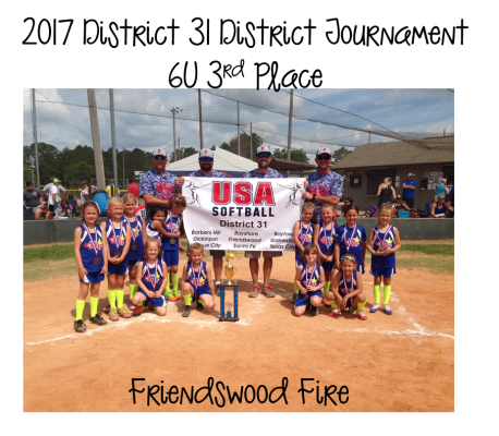 2017 6U 3rd Place - Friendswood Fire