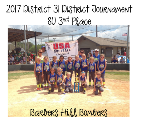 2017  8U 3rd Place - Barbers Hill Bombers